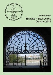 Pfarrbrief Ausgabe 18 - Ostern 2011 - Pfarreiengemeinschaft ...
