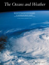 The Oceans and Weather - Department of Atmospheric Sciences