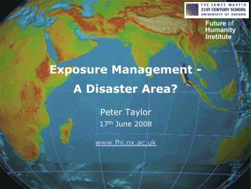 Exposure Management - A Disaster Area?