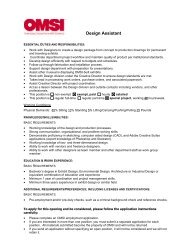 Design Assistant - OMSI