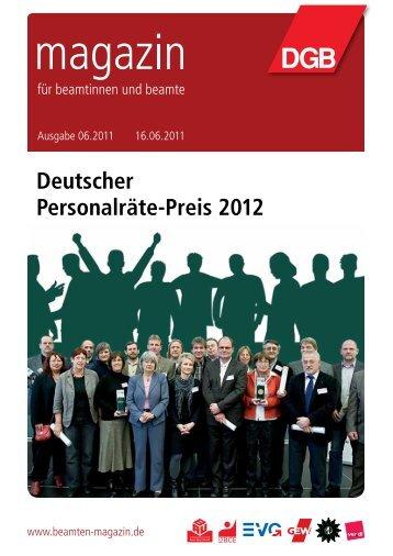 Ausgabe 6/2011 - Landesbeamte