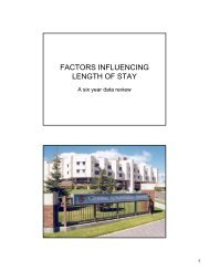 FACTORS INFLUENCING LENGTH OF STAY