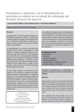 Prevalencia y detección de la desnutrición en pacientes en ... - SciELO