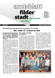 """Die """"wilde 13"""" ist jetzt im Amt - Stadt Filderstadt"""