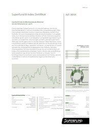 Superfund B Index Zertifikat Juli 2010 - Hedgeconcept.de