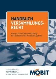 HANDBUCH VERSAMMLUNGS- RECHT - BgR Weimar