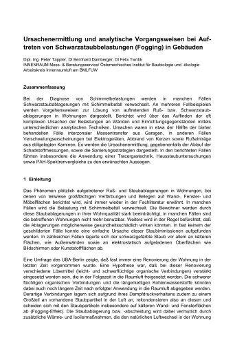 Ursachenermittlung und analytische ... - Innenraum Mess