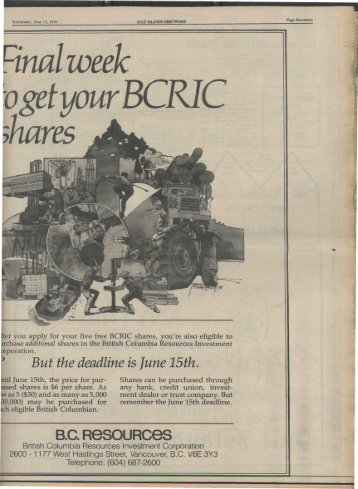 B.C. ResouRces - Salt Spring Island Archives