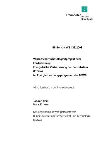 32.863 KB - Energetische Sanierung der Bausubstanz - EnSan