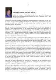 1 Pam Snyder, Presidenta de AMASC 2010-2014 Gracias por ...