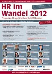 HR im Wandel 2012 - Management Forum der Verlagsgruppe ...