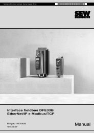 Interface fieldbus DFE33B EtherNet/IP e Modbus ... - SEW-USOCOME