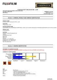 Chemwatch Australian MSDS 33-6739 - FUJIFILM Australia