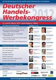 Deutscher Handels Werbekongress 27. Und 28. Februar 2012 ...