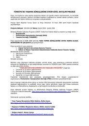türkiye'de yasama süreçlerine etkin sivil katılım ... - Yasama Derneği