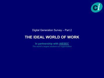 THE IDEAL WORLD OF WORK - Management Innovation eXchange
