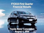 [PDF] FY2010 First Quarter Financial Results - Toyota