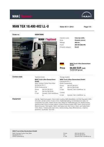 MAN TGX 18.400 4X2 LL-U - MAN TopUsed
