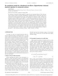 An analytical model for vibrational non-Born–Oppenheimer induced ...