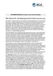 INFORMATIONEN für Presse, Funk und Fernsehen BGA: Observer ...