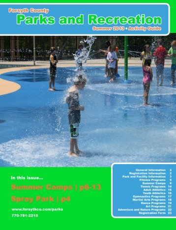 View Summer Brochure (PDF) - Forsyth County Government