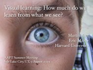 Visual learning: How much do we learn from what we see?