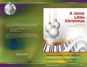 Dec. 17: A Jazzy Little Christmas - MSU College of Music - Michigan ...