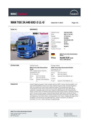 MAN TGX 24.440 6X2-2 LL-U - MAN TopUsed