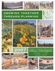 growing together through planning - Arizona Planning Association