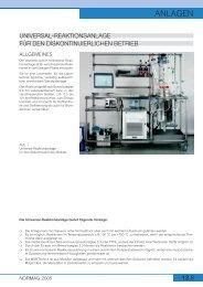 Universal-Reaktionsanlage - Normag Labor