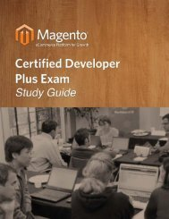 Magento® Certified Developer Plus Exam Study Guide
