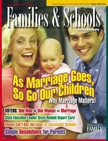 Published Quarterly by the Pennsylvania Family Institute • Winter ...