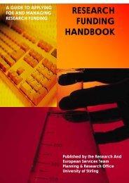 research funding handbook - Publication Scheme - University of ...