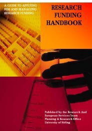 research funding handbook - Publication Scheme - University of ...