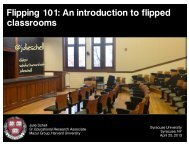 Flipped Classroom Syracuse - Mazur Group - Harvard University