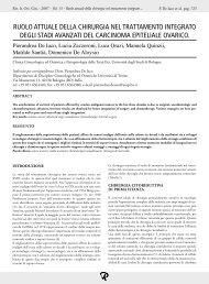 ruolo attuale della chirurgia nel trattamento ... - Mnlpublimed.com