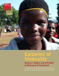 Women's Rights and HIV/AIDS in Botswana & Swaziland