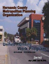 2008/2010 Unified Planning Work Program - Hernando County