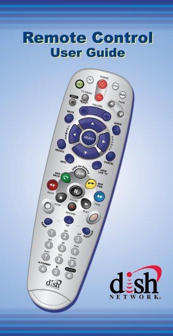 5.4 Remote Control User Guide - MyDISH