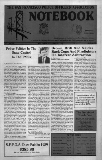 March 1990 - San Francisco Police Officers Association