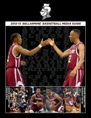 2012-13 Media Guide - Bellarmine Athletics - Bellarmine University