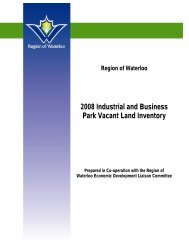 2008 Industrial and Business Park Vacant Land Inventory