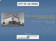 Redevelopment Concept - City of Las Vegas
