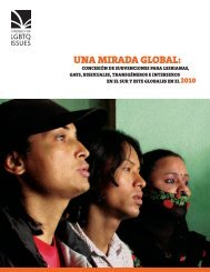 UNA MIRADA GLOBAL: - Funders for Lesbian and Gay Issues