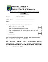 sementara - MPSJ - Majlis Perbandaran Subang Jaya