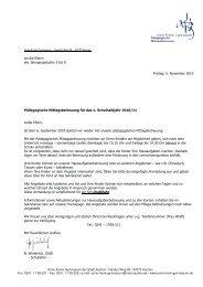 Anschreiben Eltern für Angebot und Anmeldung 1. Halbjahr 2010 ...