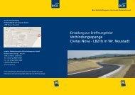 Einladung Verbindungsspange - beim TFZ Wiener Neustadt