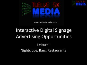 Interactive Digital Signage Advertising Opportunities