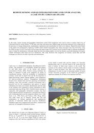 remote sensing and gis integration for land cover analysis - ISPRS