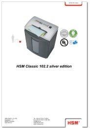 Classic 102.2 silver edition PDF Download - Aktenvernichter